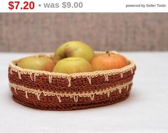Crochet basket, crocheted basket, crochet home decor, handmade basket, gift basket, Storage basket, brown basket, custom basket