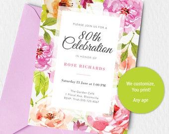 80th Birthday Invite