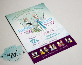 Sisters Forever Elsa and Anna Printable Invitation