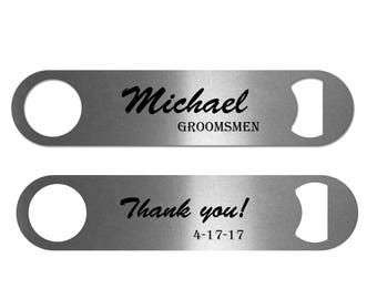 Personalized Bottle Opener | Personalized Bar Blade | Wedding Party Gift | Bar Accessory | Groomsmen Gift | Father's Day Gift | Party Favor