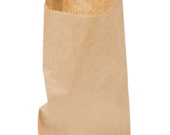 """50 ct Brown Kraft Paper Bag 6 X 9"""", printable bags, favor bags, candy bags, merchandise bags, treat bags, party supplies, wedding"""