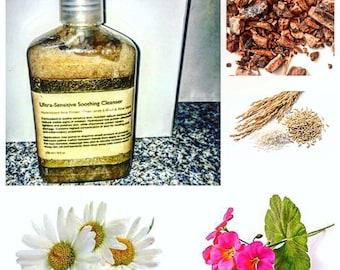 Sensitive Skin Cleanser - Krees Skincare Ultra Sensitive Soothing Cleanser - Natural Skincare - Sensitive Facial Wash - Natural Face Wash
