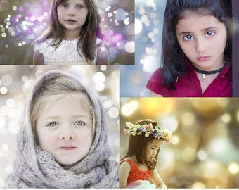 6 Beautiful Christmas Bokeh Overlays, Holiday Light Overlays, Photo Overlays, Bokeh Effect, Photoshop Overlays, Instant Download, Photgraphy