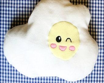 kawaii egg pillow