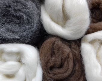 British Rare Breeds Felting Wool 300g  Selection Box