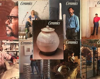 Ceramics Monthly Magazines - 9 Issues from 1989