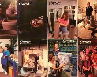 Ceramics Monthly Magazines - 8 Issues from 1992