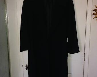Super Soft & Luxe Christian Dior Black Wool Wrap Coat