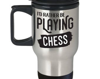 Chess Gifts Travel Mug, 14 OZ, Stainless Steel Coffee Cup