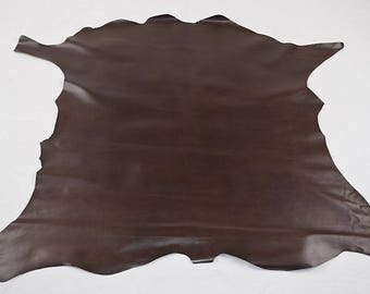 Brown calfskin leather