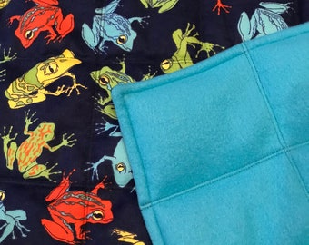 Frog Print Weighted Blanket