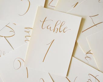 CALLIGRAPHY | Table Numbers