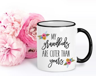 Grandparent Gifts | Gift for Grandma | Nana Gift | My Grandkids Are Cuter Than Yours | Nan Birthday Gift | Mother's Day Gift