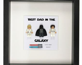 mens gift Star wars Gift for dad gift from kids brother gift custom Star wars frame personalized gift from son and Daughter gift for him