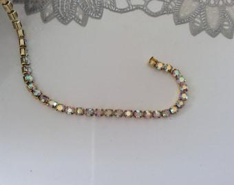 Gold color chain 4 mm ab rhinestones