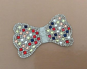 Applique fabrics and 3 mm Crystal rhinestone paste iron easily