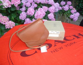 Vintage Coach Bag, Never Used Vintage, New in Box with Tag, Megan 9921, British Tan, Crossbody, Shoulder, Messenger, Rare, Small, Geometric