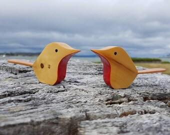 Huon Pine Love Birds (pair)