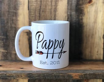 Custom Pappy/Grandpa/Grandfather/Papa/Granddaddy Mug, Unique Mug, Coffee Cups, Custom Coffee Mug, Fun Coffee Mug, Dad/Grandfather Gift