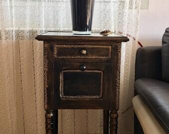 Side table or bedside table vintage
