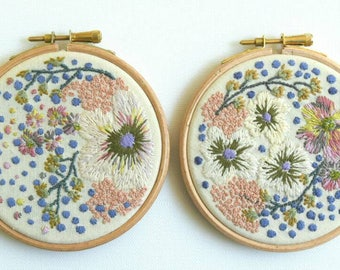 Floral Hoop, Embroidery Art, Hoop Art, Fibre Art, Wall Decor, Hand Embroidery