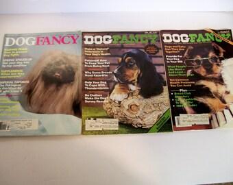 Dog Fancy Magazines April, July 1985 March 1990