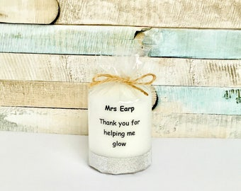 personalised teacher leaving candle gift, personalised gift, home and decor, personalised candle,