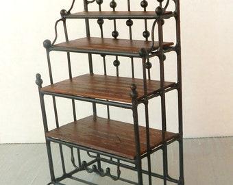 "Artisan Made 1:12 Scale Dollhouse Baker's Rack ""Amalfi"""