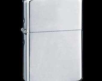 JUMBO Polished chrome lighter. Great gift, space for engraving - make it a personalised gift!