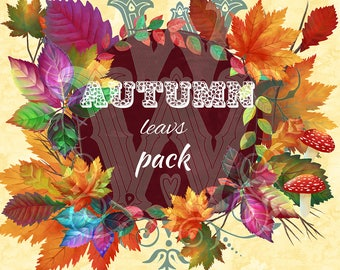 Autumn Watercolor clipart,Autumn Leaves Clipart, Fall Clipart, Fall Leaves, Watercolor Clipart, Fall, Autumn Clipart, autumn leaves clip art