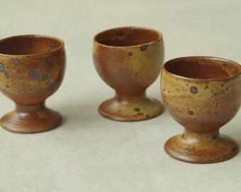 Vintage Studio Pottery  Egg Cups. Set of 3