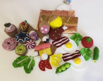Crochet Breakfast, Crochet Sandwich,Kitchen DecorKnitted food/ 30pcs/eco-friendly/Crochet fried egg,Knitted cheese, Amigurumi/ Play Food