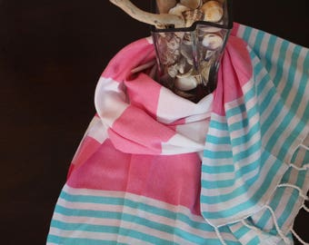 Peshtemals,  turkish%100 Cotton, pink towel, beach Towel, Beach, Travel, VerySoft, natural, Size 175-98, pesthemal