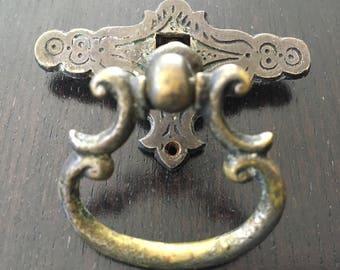 Set of Five (5) Vintage Victorian Style Drawer Pulls with Original Screws