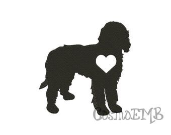 8 Size Goldendoodle Embroidery Applique design Machine Embroidery - Digital INSTANT DOWNLOAD