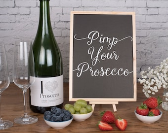 Pimp your Prosecco - Wedding Chalkboard