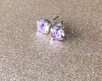 Lilac Sky Swarovski Crystal Earrings