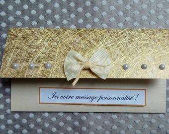 POUCH packaging card gift PCA0001 gold and pearls
