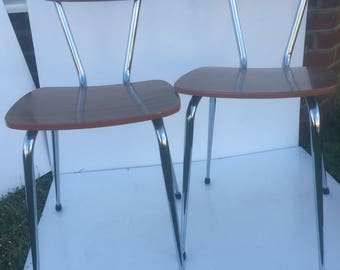 Formica school-type chairs