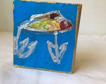 Fish Art, fish decor, boy nursery decor