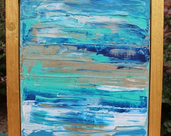 """Abstract Painting on 10""""x8"""" Canvas"""