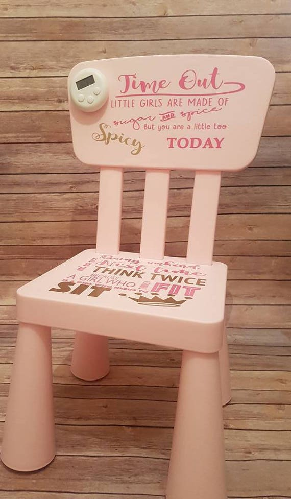 Time Out Chair With Timer personalised time out chair unique timer name words