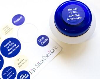SeneGence skin care stickers/labels including Color Matched MakeSense