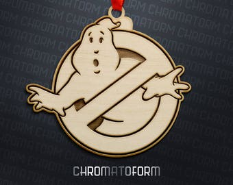 Ghostbusters Christmas Ornament - Laser engraved