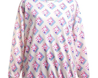 Pink diamond printed sweatshirt