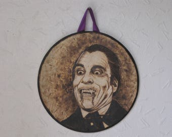 Dracula Wood Art