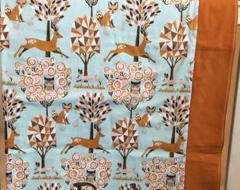 Woodlands nursery crib blanket - Free monogramming; Baby Blanket; Baby shower gift; Monogrammed Blanket; Nursery Blanket