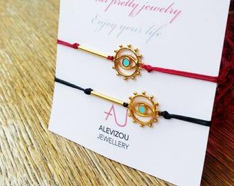 Evil eye bracelet, Protection bracelet, Valentine's gift, Red string bracelet, Best friend gift, Lucky charm bracelet