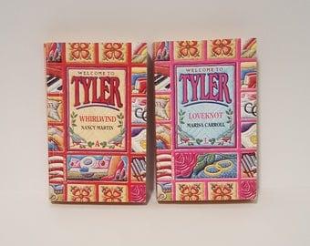 Harlequin Books, Two Romance Books, Welcom to Tyler, LoveKnot by Marissa Carroll, Whirlwind by Nancy Martin