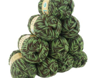 10 x 50 g (= 500 g) MILLY wool 50 g #112 deep forest to knitting felting 100% pure new wool